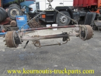 Used straight Mercedes-Benz front axle with ten bolts (10 holes)