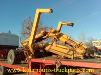 Used knuckle boom PM 25003 crane 12ton and hydraylic fly jib